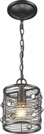 Golden Lighting 1998-M1L-EBB Bijoux Brushed Etruscan Bronze Mini Drum Hanging Pendant Light
