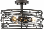 Golden Lighting 1998-SF-EBB Bijoux Brushed Etruscan Bronze Semi-Flush Ceiling Light