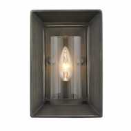 Golden Lighting 2073-1W-GMT Smyth Contemporary Gunmetal Bronze Wall Lighting Fixture