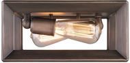 Golden Lighting 2073-FM-GMT Smyth Contemporary Gunmetal Bronze Flush Ceiling Light Fixture