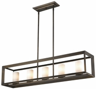Golden Lighting 2073-LP-GMT-OP Smyth Modern Gunmetal Bronze Island Light Fixture