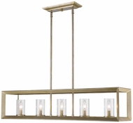 Golden Lighting 2073-LP-WG-CLR Smyth Modern White Gold Island Lighting