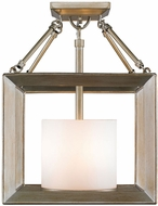 Golden Lighting 2073-SF-WG Smyth Contemporary White Gold Semi-Flush Overhead Lighting Fixture / Hanging Light