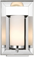 Golden Lighting 2074-BA1-CH Smyth Contemporary Chrome Halogen Wall Lamp