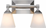 Golden Lighting 2112-BA2-PW-OP Gentry Pewter 2-Light Bathroom Lighting