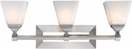 Golden Lighting 2112-BA3-PW-OP Gentry Pewter 3-Light Lighting For Bathroom