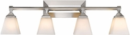 Golden Lighting 2112-BA4-PW-OP Gentry Pewter 4-Light Bath Lighting