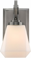 Golden Lighting 2712-BA1-AS-OP Hollis Modern Aged Steel Light Sconce