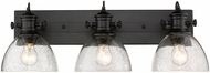 Golden Lighting 3118-BA3-BLK-SD Hines Contemporary Black 3-Light Vanity Light