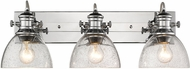 Golden Lighting 3118-BA3-CH-SD Hines Modern Chrome 3-Light Bath Light Fixture
