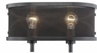 Golden Lighting 3167-BA2-EB Colson EB Contemporary Etruscan Bronze 2-Light Bathroom Light