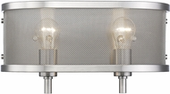 Golden Lighting 3167-BA2-PW Colson PW Modern Pewter 2-Light Bathroom Lighting Fixture