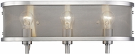 Golden Lighting 3167-BA3-PW Colson PW Modern Pewter 3-Light Vanity Light