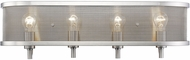 Golden Lighting 3167-BA4-PW Colson PW Modern Pewter 4-Light Bath Lighting Fixture