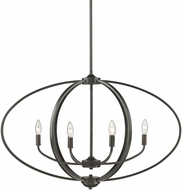Golden Lighting 3167-LP-EB Colson EB Contemporary Etruscan Bronze Kitchen Island Lighting