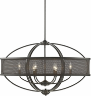 Golden Lighting 3167-LP-EB-EB Colson EB Modern Etruscan Bronze Kitchen Island Light (with shade)