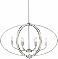 Golden Lighting 3167-LP-PW Colson PW Contemporary Pewter Island Light Fixture