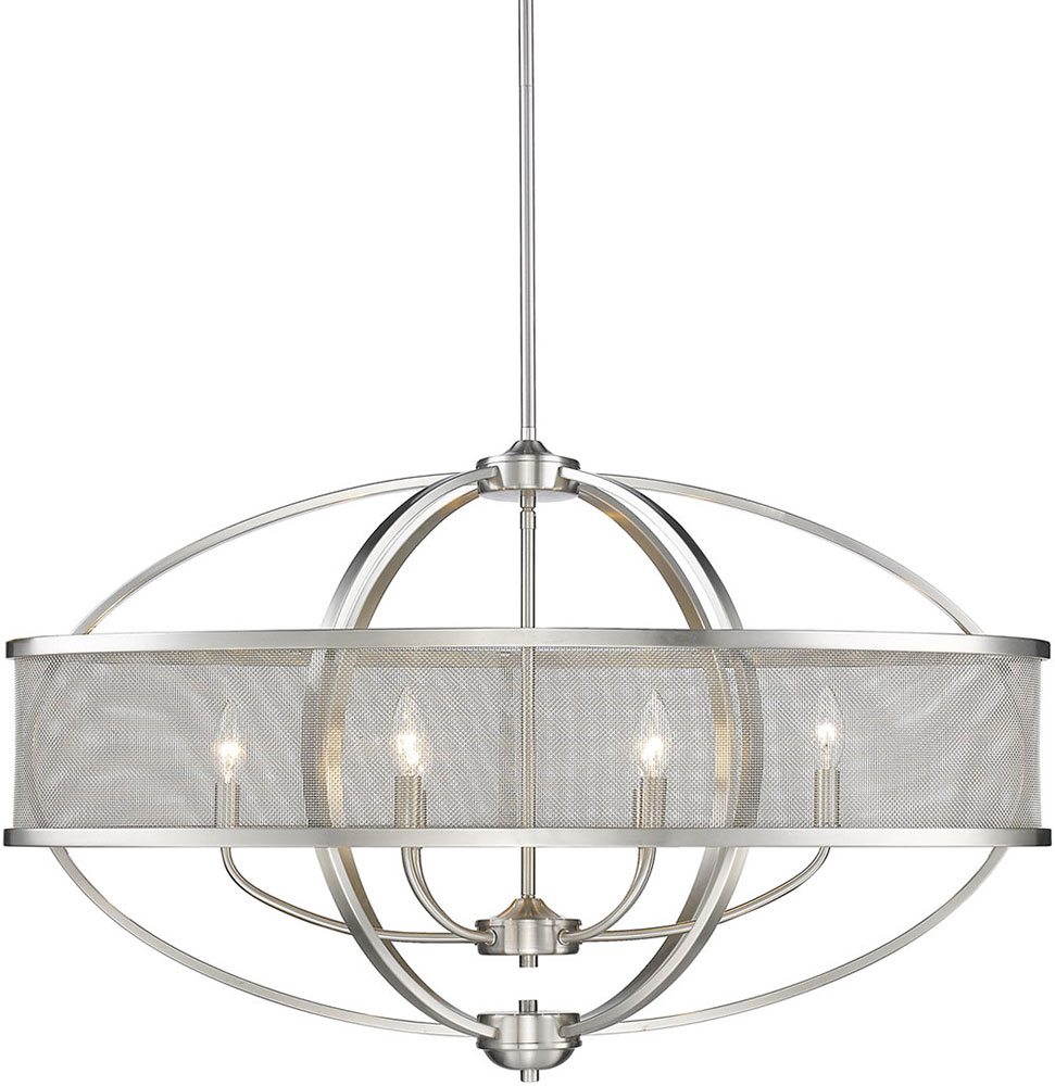 Golden Lighting 3167-LP-PW-PW Colson PW Modern Pewter