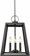 Golden Lighting 3239-4P-BLK-BLK Abbott Contemporary Black Foyer Lighting