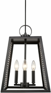 Golden Lighting 3239-4P-BLK-CH Abbott Modern Black Foyer Light Fixture