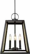 Golden Lighting 3239-4P-BLK-SB Abbott Contemporary Black Foyer Lighting Fixture