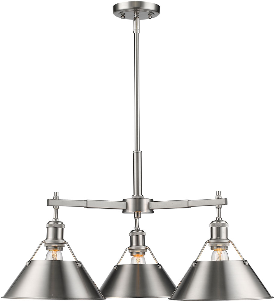 golden lighting chandelier. Golden Lighting 3306-D3-PW-PW Orwell PW Modern Pewter Chandelier. Loading Zoom Chandelier N
