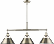 Golden Lighting 3306-LP-AB-AB Orwell AB Modern Aged Brass Island Lighting