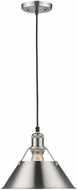Golden Lighting 3306-M-PW-PW Orwell PW Contemporary Pewter Mini Ceiling Light Pendant