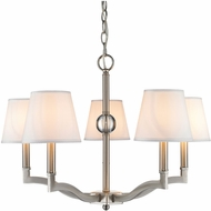Golden Lighting 3500-5-PW-CWH Waverly Pewter Hanging Chandelier