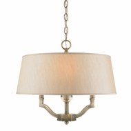 Golden Lighting 3500-SF-AB-PMT Waverly Aged Brass Drum Hanging Lamp / Flush Mount Lighting