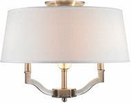 Golden Lighting 3500-SF-PW-CWH Waverly Pewter Ceiling Light Fixture / Pendant Lighting Fixture