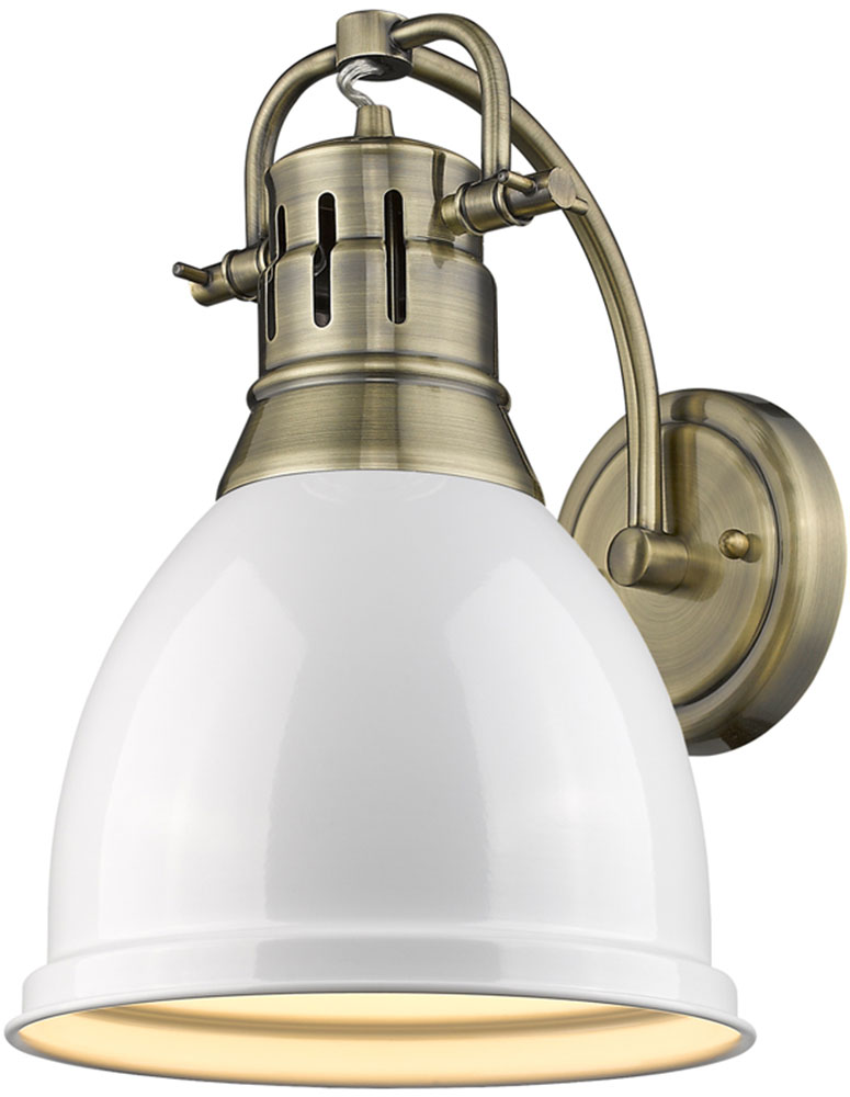 Golden Lighting 3602 1W AB WH Duncan AB Contemporary Aged Brass
