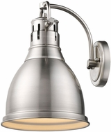 Golden Lighting 3602-1W-PW-PW Duncan Contemporary Pewter Lighting Wall Sconce