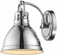 Golden Lighting 3602-BA1-CH-CH Duncan Modern Chrome Wall Sconce Light