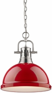 Golden Lighting 3602-L-PW-RD Duncan Contemporary Pewter Pendant Lighting