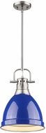 Golden Lighting 3604-S-PW-BE Duncan Contemporary Pewter Small Drop Lighting