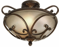 Golden Lighting 4002-SF-RSB Loretto Modern Russet Bronze Overhead Lighting / Hanging Pendant Light