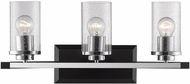Golden Lighting 4309-BA3-BLK-SD Mercer Modern Black 3-Light Bathroom Lighting
