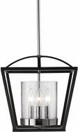 Golden Lighting 4309-SF-BLK-SD Mercer Modern Black Foyer Lighting
