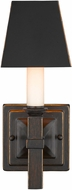 Golden Lighting 5907-1W-CDB-BLK Bradley Cordoban Bronze Wall Lighting (with shade)