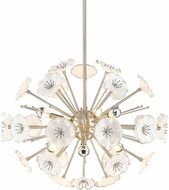 Golden Lighting 5933-6P-PW Kyoto Contemporary Pewter 6-Light Ceiling Pendant Light