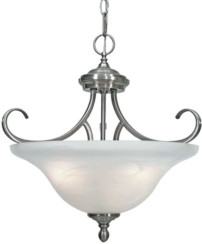 Golden Lighting 6005 SF PW Lancaster Pewter Pendant Lamp Flush Ceiling Light Fixture Loading Zoom