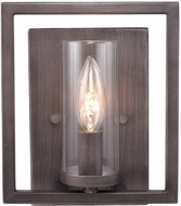 Golden Lighting 6068-1W-GMT Marco Contemporary Gunmetal Bronze Wall Sconce Lighting