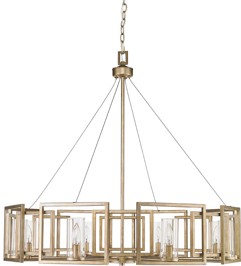 Golden Lighting 60688WG Marco Modern White Gold Chandelier