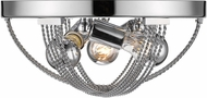 Golden Lighting 7001-FM-CH Carter Contemporary Chrome Flush Mount Lighting