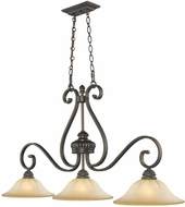 Golden Lighting 7116-10-LC Mayfair Leather Crackle Kitchen Island Light Fixture
