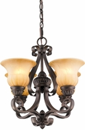 Golden Lighting 7116-GM4-LC Mayfair Leather Crackle Mini Hanging Chandelier