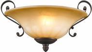 Golden Lighting 7116-WSC-LC Mayfair Leather Crackle Wall Mounted Lamp
