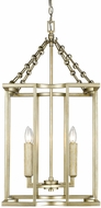 Golden Lighting 7151-4P-WG Bellare Contemporary White Gold Entryway Light Fixture