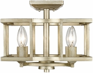 Golden Lighting 7151-SF-WG Bellare Modern White Gold Home Ceiling Lighting / Drop Lighting